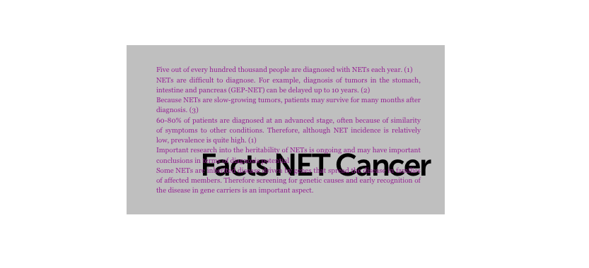 Factbox NET Cancer
