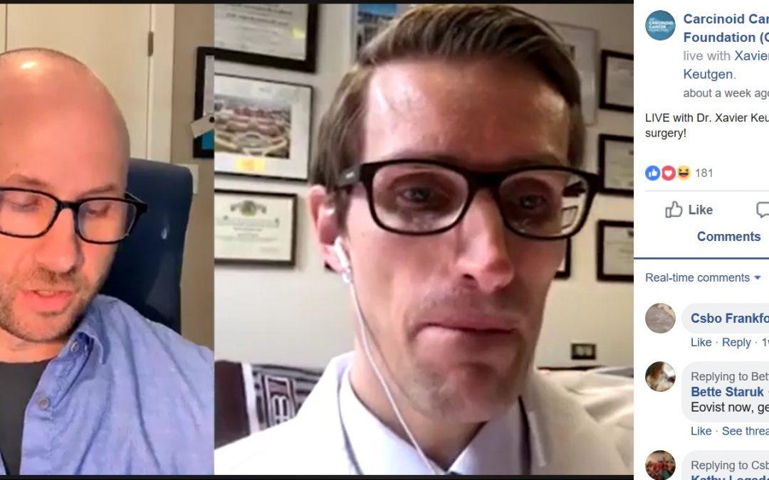 Facebook LIVE with NET Expert Xavier Keutgen, MD
