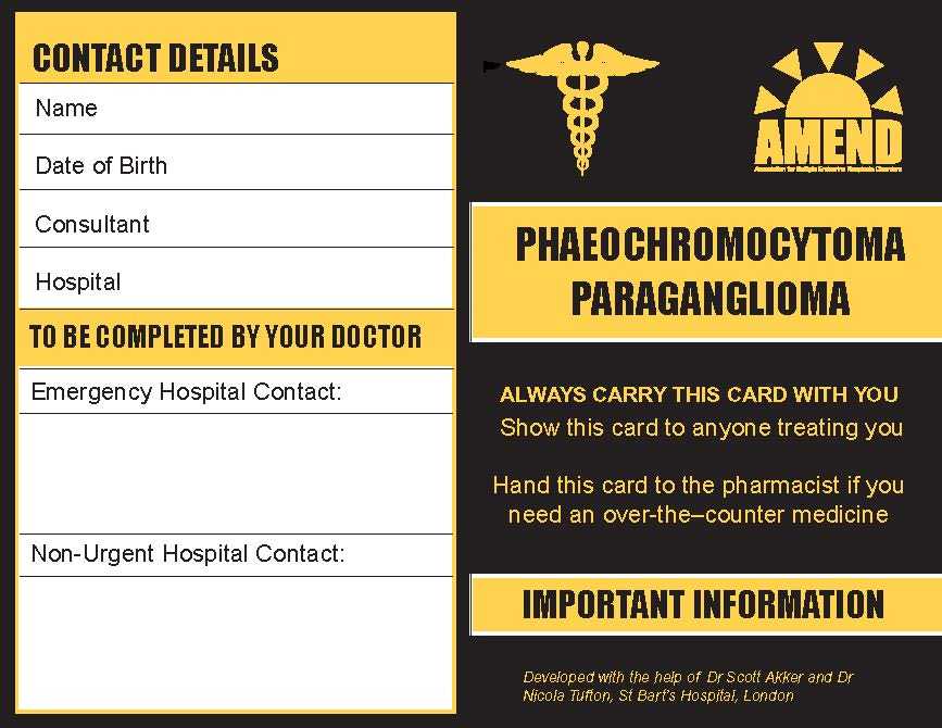 Phaeo/Para Crisis Card from AMEND