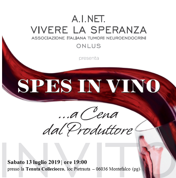 A.I.NET Italy Vivere la Speranza Fundraising for NET Research