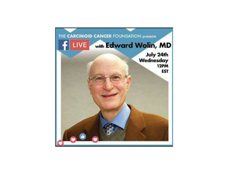 Neuroendocrine Tumors for the Newly Diagnosed with Dr. Edward Wolin, a Facebook Live Program from Carcinoid Cancer Foundation