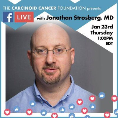 Carcinoid Cancer Foundation Facebook Live Event on PRRT