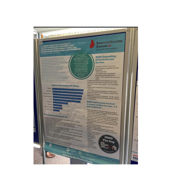 Neuroendocrine Cancer UK's MIND the Gap at the BPOS Conference