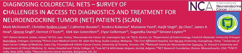 SCAN Data on Diagnosing Colorectal NETs Presented at the European Colorectal Congress 2020