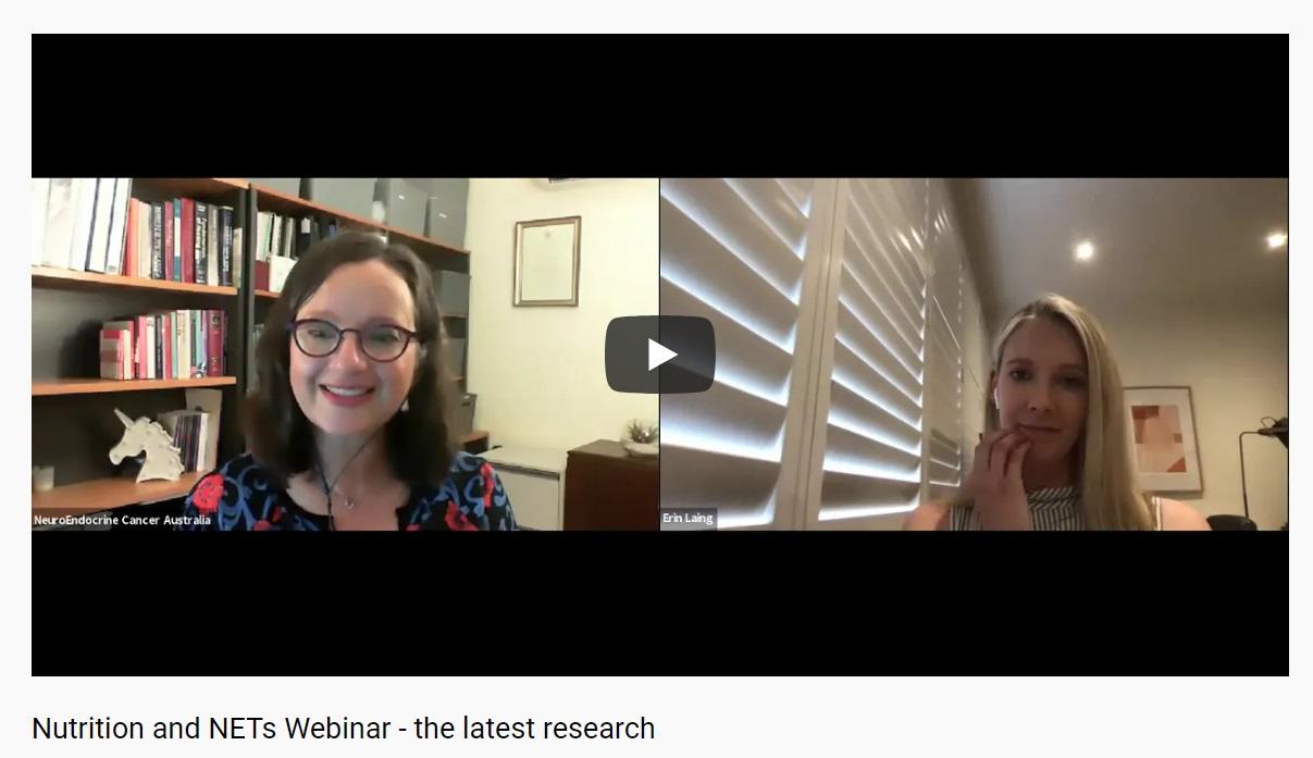 NeuroEndocrine Cancer Australia Nutrition and NETs Webinar