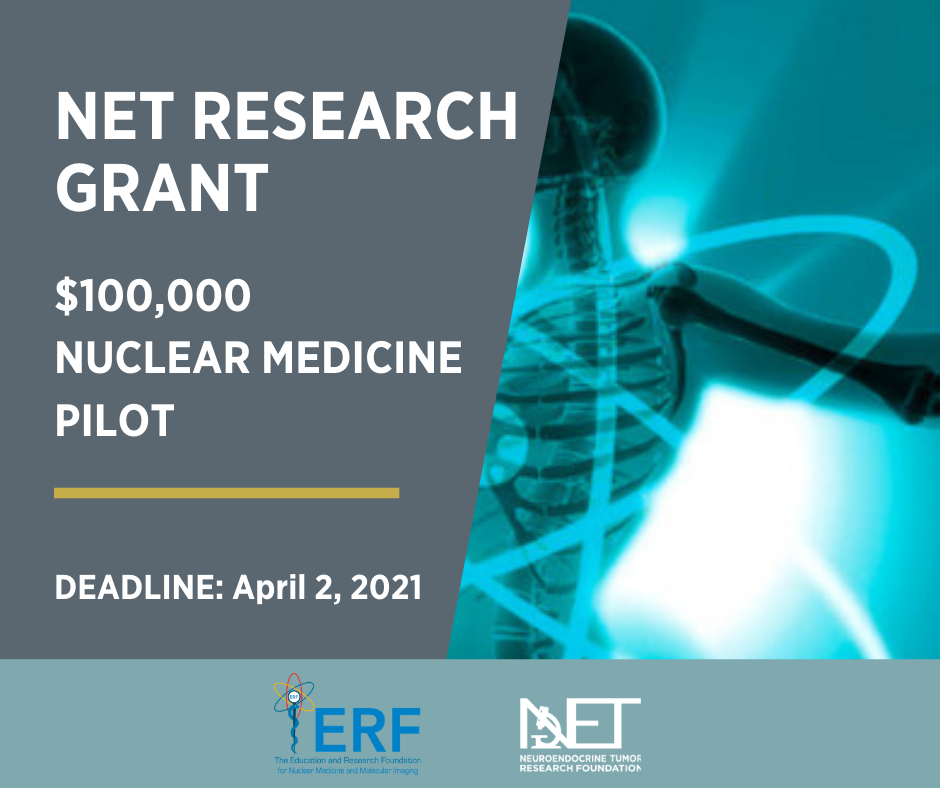 NETRF & ERF Nuclear Medicine Pilot Research Grant Open Call Ending Soon