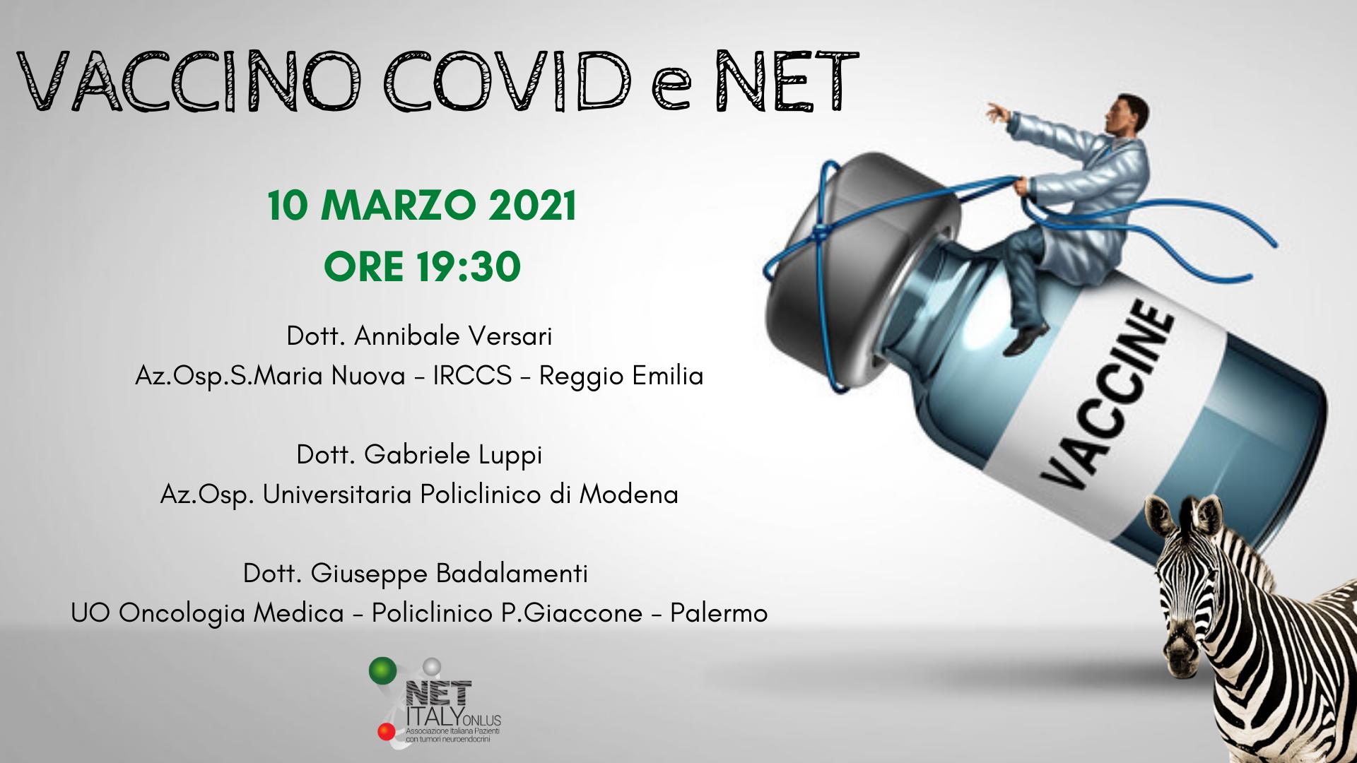 NET Italy Webinar: Vaccino COVID e NET / NET Italy Webinar: COVID Vaccine and NET