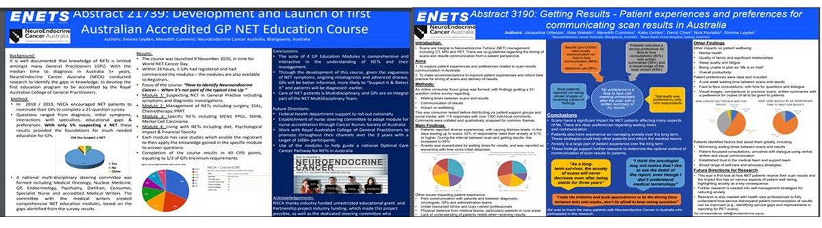 NeuroEndocrine Cancer Australia With 2 Posters at ENETS 2021